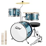 Eastar 14 inch Kids Drum Set Age 5 Real 3 Pieces with...