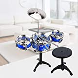 Kids/Junior Drum Set with Adjustable Throne, Cymbal &...