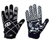 Seibertron Pro 3.0 Twelve Constellations Elite Ultra-Stick Sports Receiver Glove Football Gloves Youth Black XS