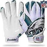 Franklin Sports NFL Philadelphia Eagles Youth Football Receiver Gloves - Medium/Large