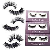 Cuckoo Lashes 100% Handmade 3D Faux Mink Lashes Individual Korean Silk False Eyelashes 3 Pairs per Set Multipack Package for Daily Makeup