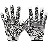 Cutters Gloves S150 Game Day Receiver Gloves, White, Youth Medium