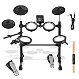 Donner DED-100 Electronic Drum Set, Eight Pieces Mesh...