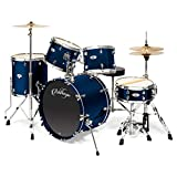 Ashthorpe 5-Piece Full Size Adult Drum Set with Remo...