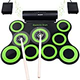 Upgraded Version Electronic Drum Set, BONROB 9 Drum...