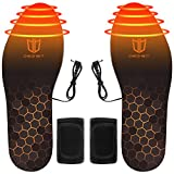 DEGBIT Fast Heating Rechargeable Heated Insoles,...