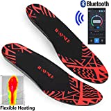 INWAVE US Heated Insoles Rechargeable Bluetooth...