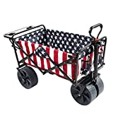 Mac Sports Collapsible Folding Outdoor Beach Wagon with...