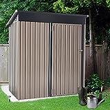 U-MAX 5' x 3' Outdoor Metal Storage Shed, Steel Garden...