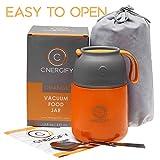 Energify Vacuum Insulated Food Jar - Stainless Steel...